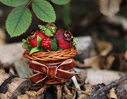 Helen de Lete Innovative Flower and Berry Basket Handmade Brooch