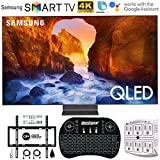 Samsung QN75Q90RA 75' Q90 QLED Smart 4K UHD TV (2019 Model) - (Renewed) w/Flat Wall Mount Kit Bundle for 45-90 TVs +...
