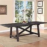 Modus Furniture 7YC961 Yosemite Solid Wood Rectangular Extension Table, Black Pine