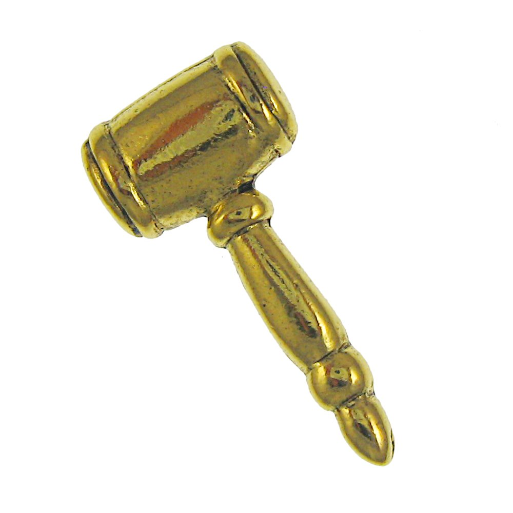 Jim Clift Design Gavel Gold Lapel Pin - 10 Count