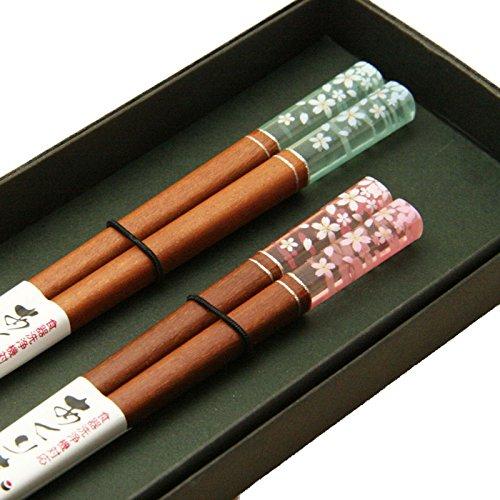 桜模様の夫婦箸