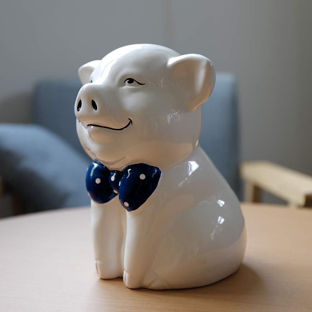 IKnow Ceramic Piggy Bank Home Decor Ornament Gift for Kids (White) by IKnow (Image #2)