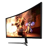 Pixio PX347c Prime 34 inch Curved Ultra Wide QHD (3440 x 1440) Adaptive Sync 100hz Widescreen Display Professional Gaming Monitor Samsung PVA 1440p
