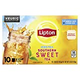Lipton Iced Tea K-Cup Pods For a Cold Beverage Southern Sweet Tea Made With Real Tea Leaves 10 Pods