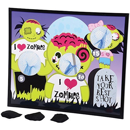I Heart Zombies Zombie Theme Bean Bag Toss Cornhole Game Set