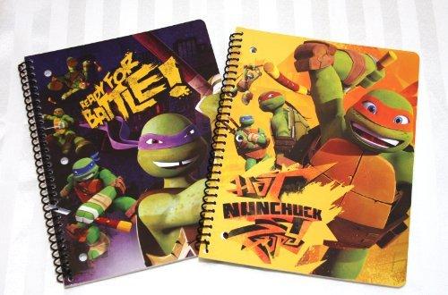 2 Teenage Mutant Ninja Turtles TMNT Notebooks-Mikey & Donnie -