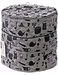 Debbiedoo's Pressure Cooker Cover - Custom Made Accessories - Fits 6.5 QT for Use with Ninja Foodi (Gray and Black - 6.5 QT)