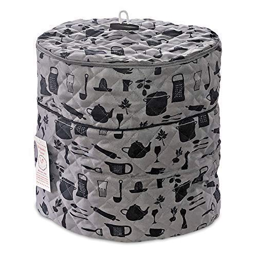 Pressure Cooker Cover - Custom Made Accessories - Fits 6.5 QT and 8 Qt. For Use With Ninja Foodi (Gray and Black - 6.5Qt. and 8 Qt) ()