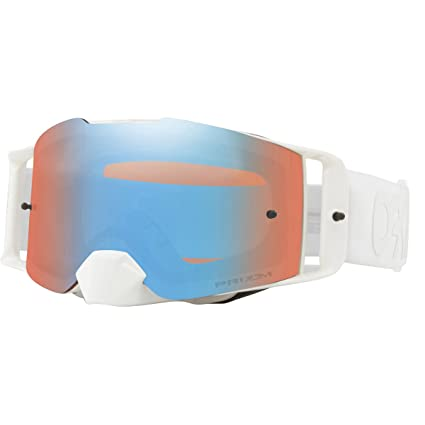 bf1817c89098 Amazon.com  Oakley Front Line MX Adult Off-Road Motorcycle Goggles Eyewear  - Whiteout w Prizm MX Sapphire One Size Fits All  Automotive
