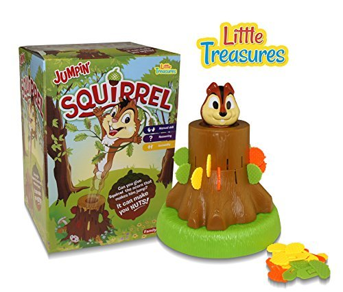 Little Treasures Jumpin' Squirrel Game, Give Right Amount of Acorns, 3 Years and Up