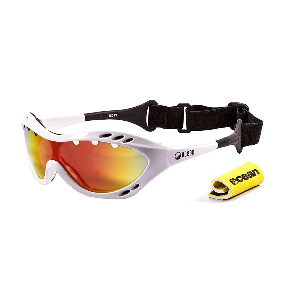 Ocean Sunglasses Costa rica - lunettes de soleil polarisées - Monture : Blanc Laqué - Verres : Revo Jaune (11801.3) Vwio8MjW8