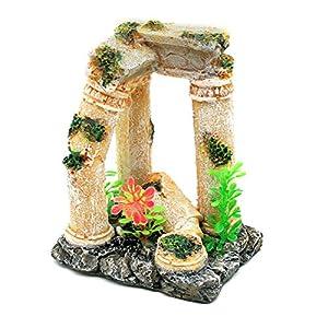 Dimart simulation resin roman column aquarium decorations for Fish tank decorations amazon