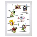 Polaroid Clothespin Frame for ZINK Photoprints – Includes 10 Clips of Assorted Colors - White