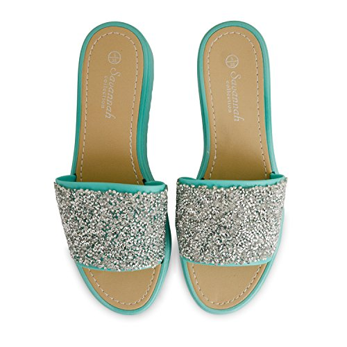 purpurina para Chanclas Sensation verde mujer Footwear wSgZqaF