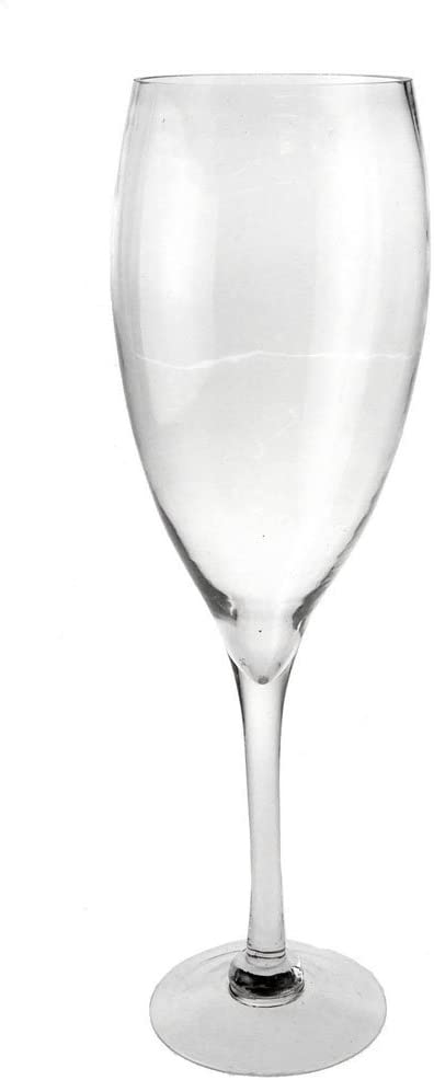 Clear Champagne Wine Glass Vase Height 20 Inch 12 Pack Case Bulk Garden Outdoor