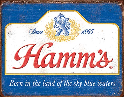 Desperate Enterprises Hamm's Beer - Sky Blue Waters Tin Sign, 16