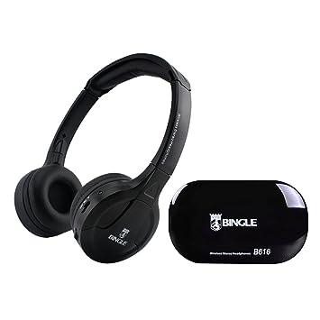Docooler B616 Auriculares estéreo inalámbricos multifunción en el oído Auriculares FM Radio Transmisor de Auriculares con conexión de Cable para MP3 PC TV ...