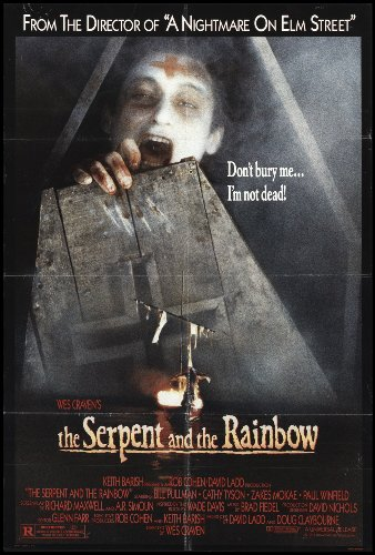 "The Serpent and the Rainbow 1988 ORIGINAL MOVIE POSTER Horror Thriller - Dimensions: 27"" x 41"""