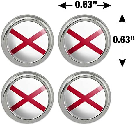 Kentucky State Flag Metal Craft Sewing Novelty Buttons Set of 4