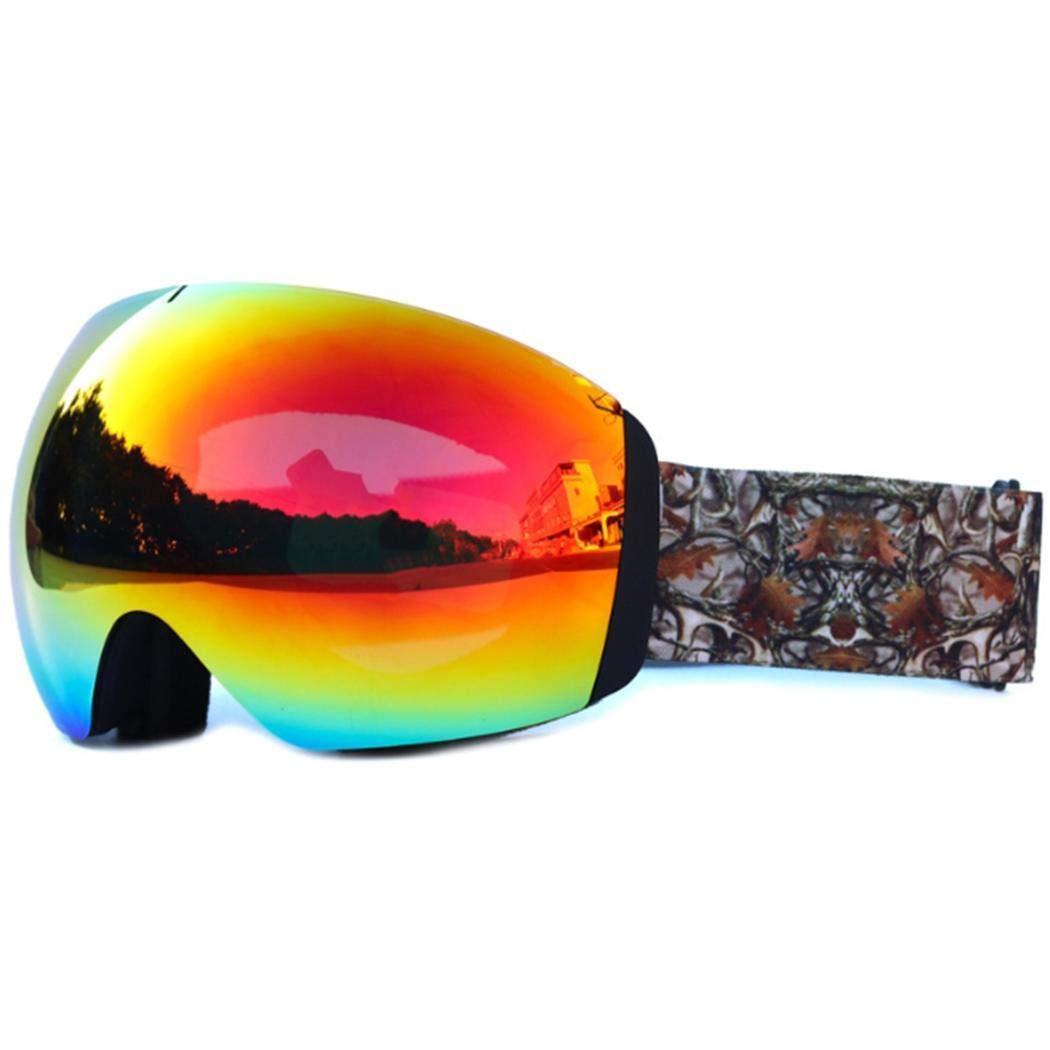 fnemo Maschere da Sci,Occhiali da Esterno Antivento Antivento a Doppio Strato Occhiali da Snowboard UV per Uomo Donna Gioventù