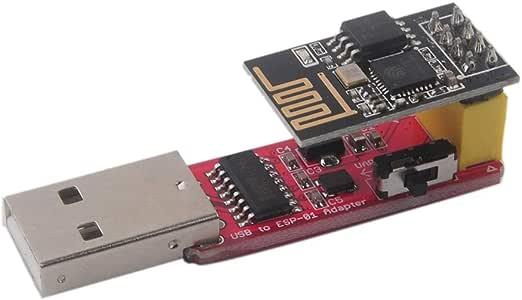 Stemedu ESP-01S - Módulo adaptador USB a ESP8266 ESP-01S inalámbrico WiFi CH340G (4,5-5,5 V, 115200): Amazon.es: Informática