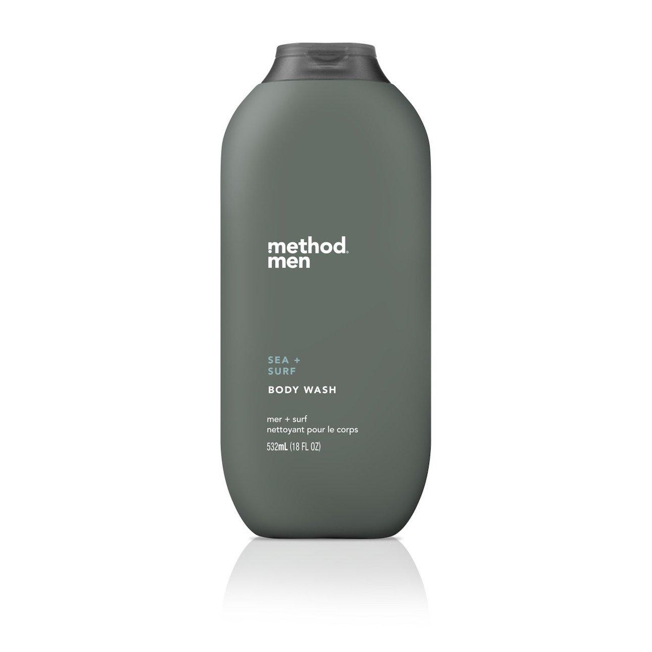 Method Mens Body Wash, Sea + Surf, 6 Count