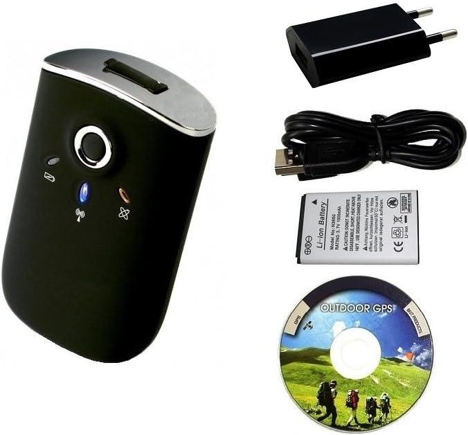Bluetooth GPS Receptor/ Registrador GT-750FL, USB GPS Grabador, 65 canales, 256.000 puntos de referencia