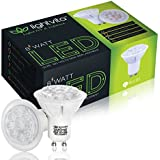 Lightvita(TM) (6-Pack) 8W MR16 GU10 LED Bulbs,50W Halogen Bulbs Equivalent, Dimmable, 600lm, Warm white, 3000k