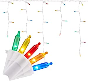 Home Accents Holiday 300 Light Super Bright Multi-Color LED Smooth Mini Constant On Icicle Light (Set of 2)