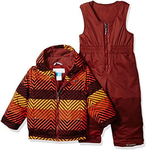 Columbia Little Boys' Frosty Slope Set, State Orange Zig N Zag, 3T (Columbia Kids Boys Snow)