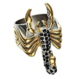 LILILEO Jewelry Gold Silver Black Zircon Stainless Steel Rings, Gothic Scorpion, Scorpio Constellation For Men's Ring Jewelry