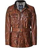 Belstaff Men's Waxed Leather Panther Jacket Cognac US 42