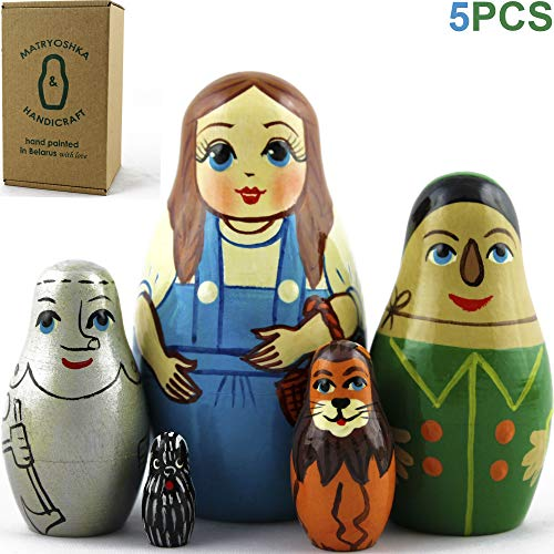Wizard of Oz Nesting Dolls 5 pieces - Wizard of Oz Decorations - Wizard of Oz Toys Gifts]()