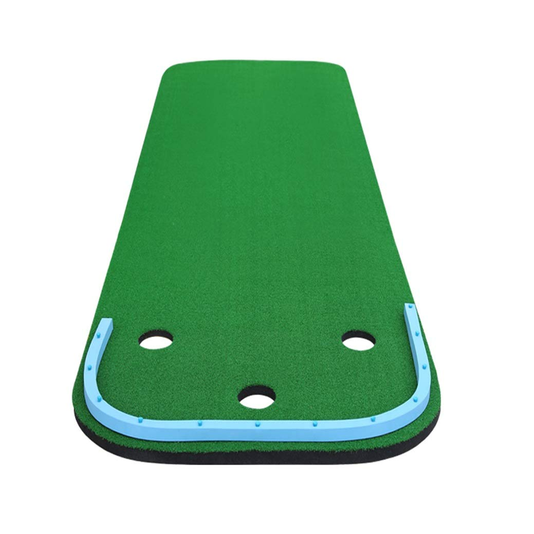 パッティングマット ゴルフマットゴルフ練習打撃マット室内人工芝オフィスゴルフパッティンググリーンゴルフ練習用ターフマット友人への最高の贈り物 (Color : Green, Size : 97x300cm) 97x300cm Green B07R67JBYQ