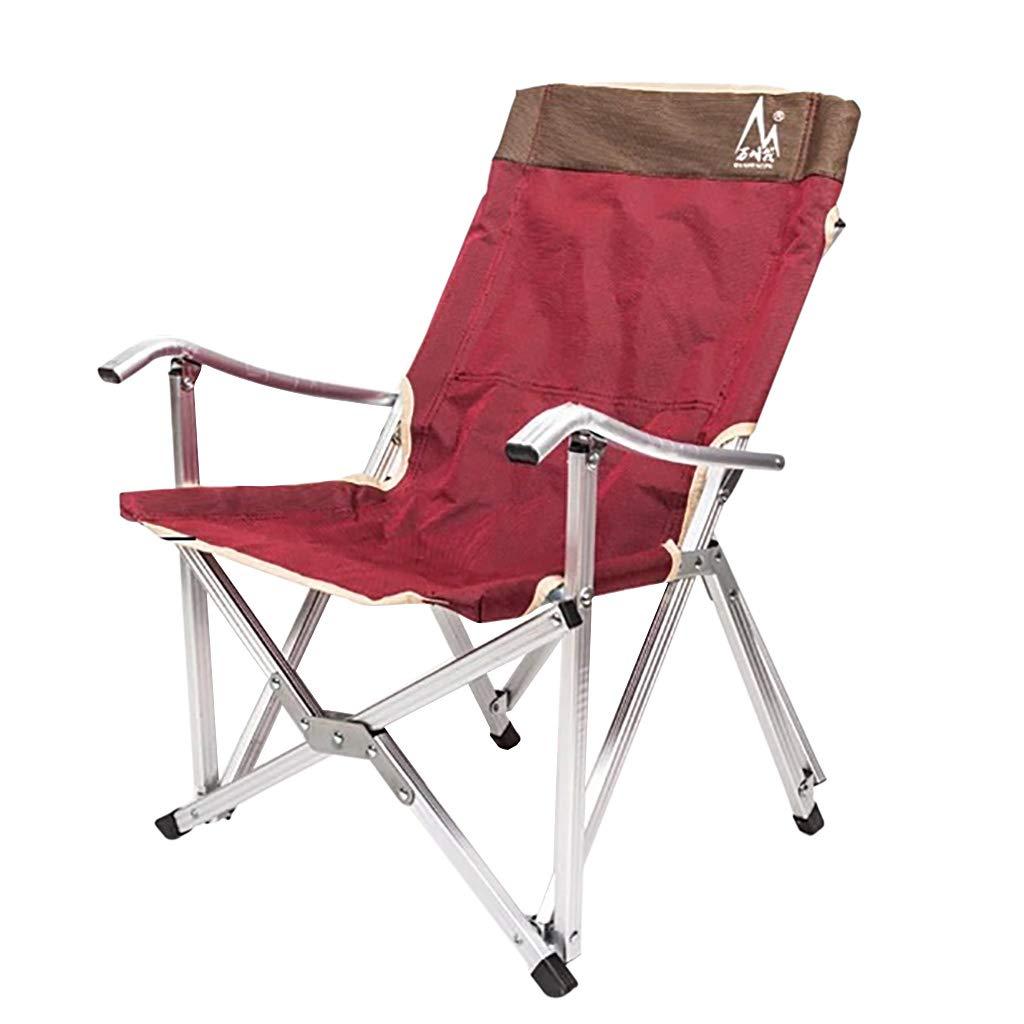 ポータブル超軽量屋外ピクニック釣りキャンプハイキング旅行スポーツコンパクト折りたたみ椅子キャリーバッグ  Wine red B07PGFYX3K