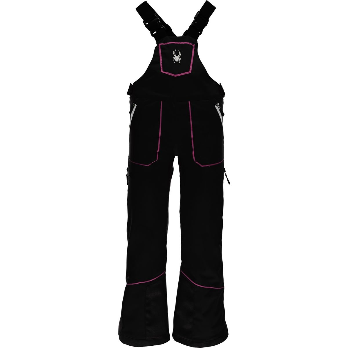 Spyder Kids Girl's Mimi Overall Pants (Big Kids) Black/Raspberry 14
