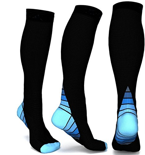 1292414fb4 Compression Socks for Men & Women High Knee(1 Pairs), BEST Medical Grade  Graduated Recovery Stockings for Nurses, Varicose, 20-30 Mmhg Fit for  Running, ...
