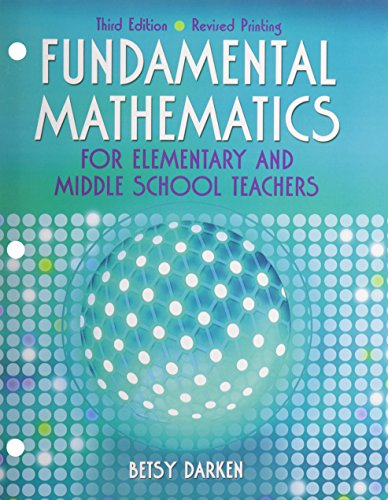 Fundamental Mathematics for Elementary School Teachers