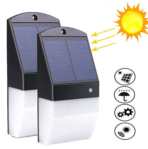 Solar Lights Outdoor,IP65 Waterproof 25 LED Solar Motion Sensor Light Wall Lamp Radar Sensor Human Body Induction 180 Degrees Detection Angle Lighting for Garden/Patio/Patnway/Yard (2pcs) by jenny-mall