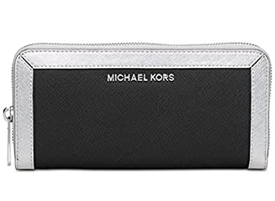 8d0b989b68a5 MICHAEL Michael Kors Jet Set Frame Out Zip Around Continental Wallet,Black