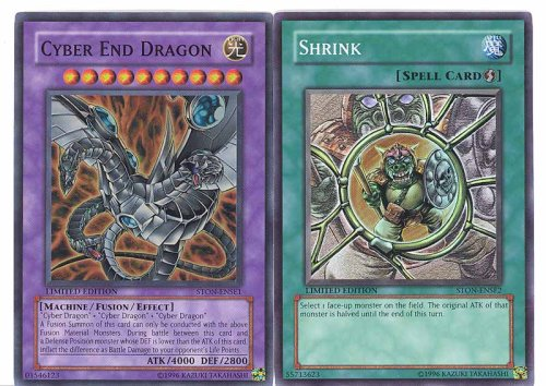 Cyber End Dragon Deck - Yugioh Limited Edition Hologram Card Set - Cyber End Dragon & Shrink Hologram Cards