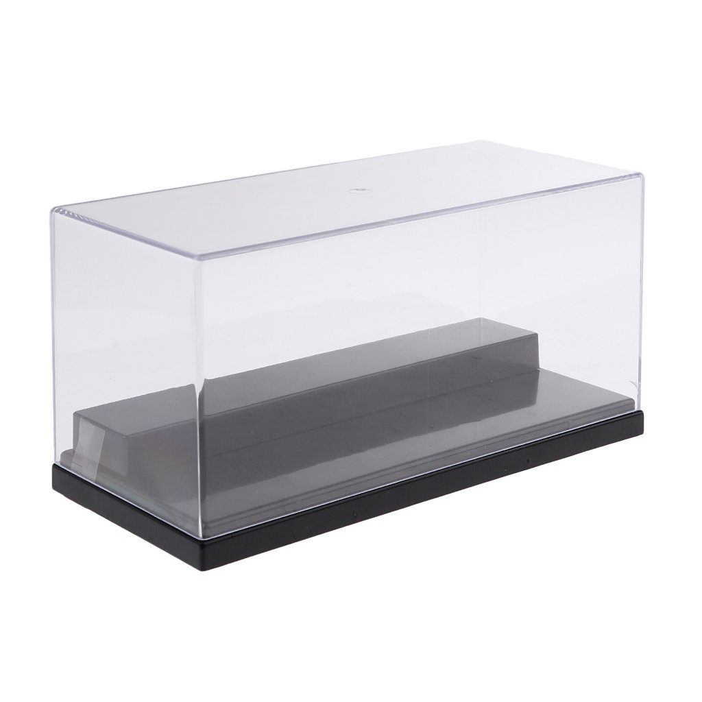 perfeclan V/ítrina de Acr/ílica Anti-Polvo Caja de presentaci/ón Estuche de Muestra Exhibidor para Juguete de Coche Modelo 3D Azul