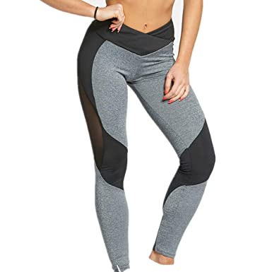 Boutique sale Sexy Mesh Yarn Stitching Sports Yoga Pants ...