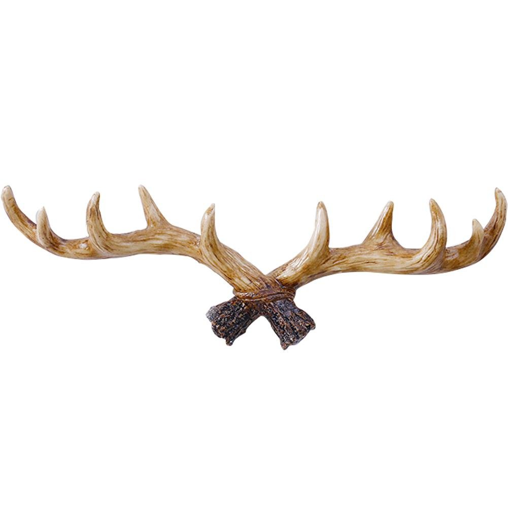 Creative Hat Coat Hooks Rack, 2 Color/Set Antler Shaped Decoration Wall Hanging Coat Rack Key Holder Creative Clothing Store Hook American Vintage Style Door Wall Decoration - Colinsa