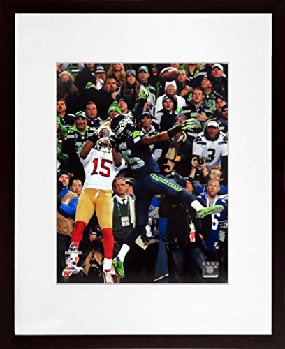 "Seattle Seahawks Richard Sherman ""Championship Tip"" 11x14 Photograph (SGA UnderFifty Series) Framed"