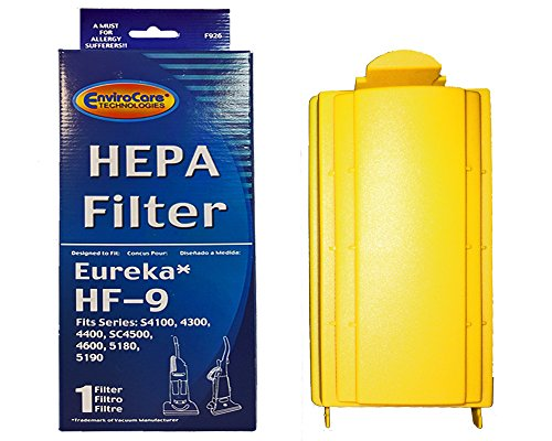- EnviroCare 1 Eureka HF9 HEPA Pleated Vacuum Filter Cyclonic Victory Powerline Whirlwind Sanitaire 60285