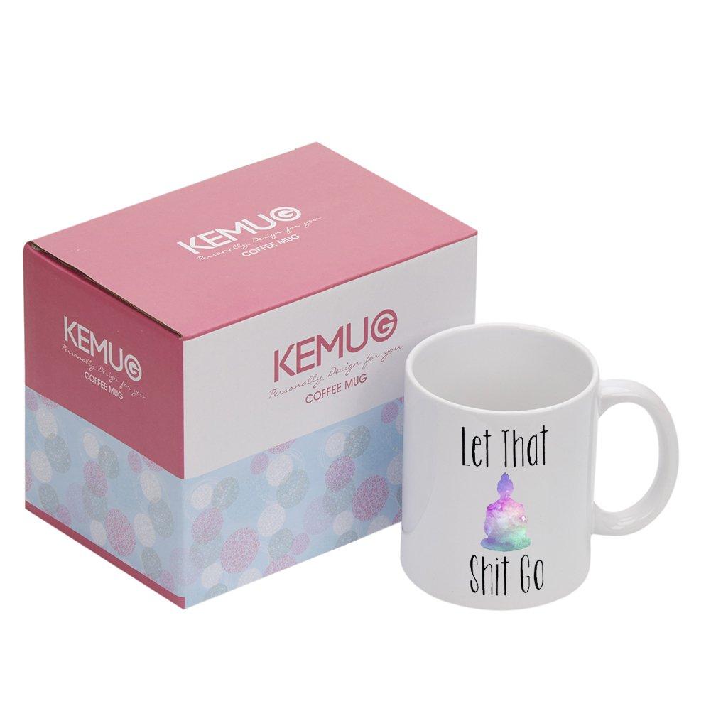 Custom MorphingMagic Coffee Mugs Heat Sensitive Color Changing Coffee Mug Good GiftYoga Coffee Mug Tea Cups Keep Calm BuddhaDesign 11.5oz 100% Ceramic Mug Zhong Fu Dian