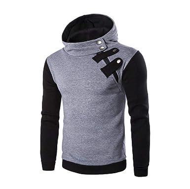 51a983b5e3ef Homme Sweat-Shirt à Capuche Manches Longues Pulls Sweat Capuche Tops Veste  Manteau Hoodie Hiver