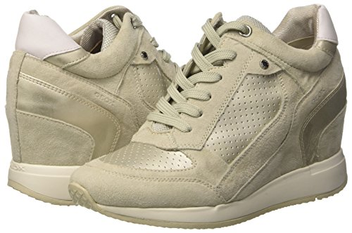 Nydame ivory Alto A Collo D Donna Sneaker platinum Geox A C0997 Avorio 5zqU7wY