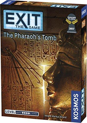 [해외]Thames & Kosmos 엑시트: 신비의 박물관 멀티 플레이어 게임 / Exit: The Pharaoh`s Tomb | Exit: The Game - A Kosmos Game | Kennerspiel Des Jahres Winner | Family-Friendly, Card-Based at-Home Escape Room Experience for 1 to 4 Players, A...